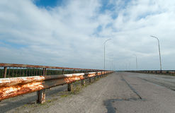 La route à la ville fantôme de Pripyat Photos libres de droits