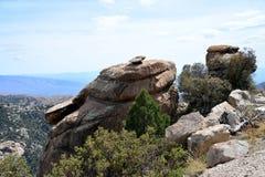 La route à Mt Lemmon en Arizona Image libre de droits