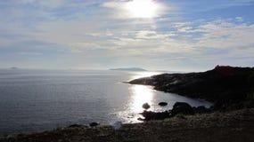 La route à Nyksund Image stock