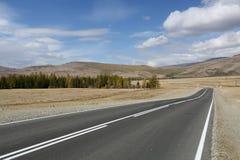 La route à travers les steppes d'Altai Photo libre de droits