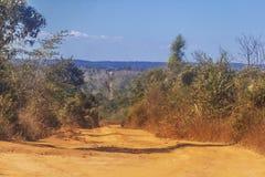 La route à Tsingy de Bemaraha Image stock