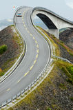 La route atlantique de côte Image stock