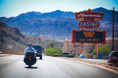 La route au casino Las Vegas, nanovolt LES Etats-Unis Photos stock