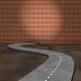La route au mur Photos stock