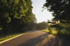 La route au parc Image stock