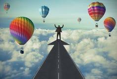 La route au succès Image libre de droits