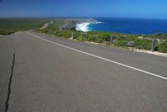 La route aux roches remarquables. Île de kangourou photo stock