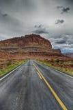 La route aux roches rouges photographie stock