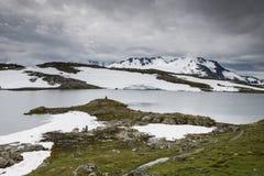 La route célèbre 55 Norvège du comté Image stock