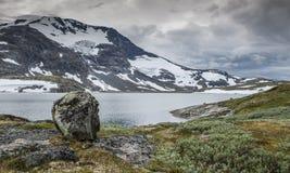 La route célèbre 55 Norvège du comté Photo libre de droits