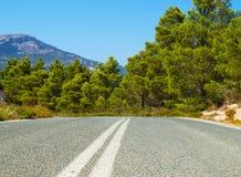 La route d'asphallt Photo stock
