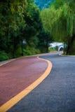 La route d'enroulement en parc images stock