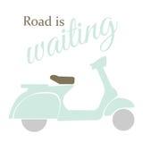La route d'illustration de moto attend Images stock