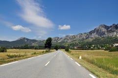 La route dans les Frances Images libres de droits