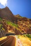 La route de Chapmanspeak sous un ciel bleu Photo libre de droits