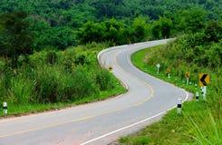 La route de courbe de S photographie stock libre de droits