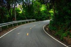 La route de fond de paysage de nature dans la forêt avec l'arbre sont entourent photographie stock libre de droits