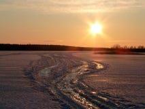 La route de l'hiver images libres de droits