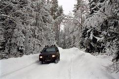 La route de l'hiver Photographie stock libre de droits