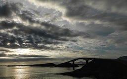 La route de l'Océan Atlantique Images libres de droits