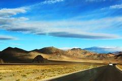 La route de la préfecture de Ngari Images libres de droits