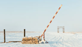 La route de la vie sur le lac Ladoga pendant le blocus de Léningrad pendant la deuxième guerre mondiale Photo stock