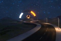 La route de ondulation et l'entr?e magique ronde, rendu 3d illustration de vecteur