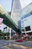La route de verger est le plus grand secteur d'achats à Singapour Image libre de droits