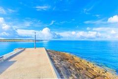 La route droite aucune la mer Image libre de droits