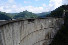La route du barrage de vidraru image stock