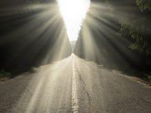 La route en avant Image libre de droits