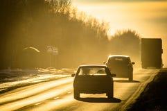 La route en Russie images libres de droits