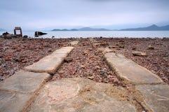 La route entrent dans la mer photographie stock libre de droits
