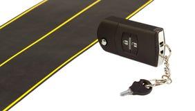 La route et les clés de véhicule Photos libres de droits