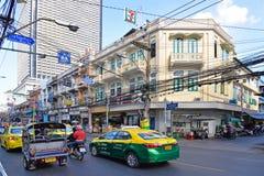 La route la plus ancienne à Bangkok, Thaïlande Image libre de droits