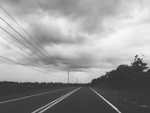 La route moins s'est déplacée image stock