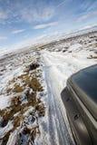 La route moins s'est déplacée Photo stock