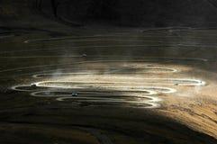 La route montagneuse au Thibet Image libre de droits