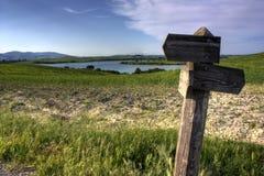 La route pour le lac Photo stock