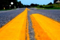 la route s'est déplacée Image stock
