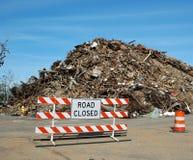 La route s'est fermée Photos stock
