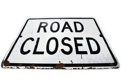 La route s'est fermée Photo stock