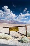 La route s'est fermée Images stock
