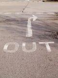 La route signent Images libres de droits
