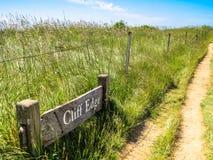 La route sur des falaises Image libre de droits