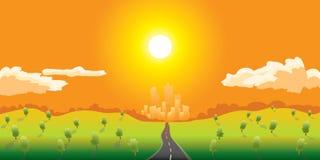 La route vont à la ville illustration libre de droits