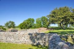La rovina del castello di Soeborg fotografie stock libere da diritti