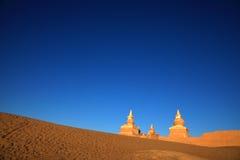 La rovina in deserto Fotografia Stock