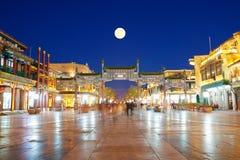 La rue antique de Qianmen, Pékin Image stock