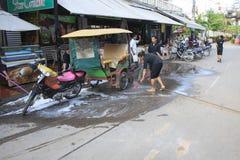La rue de bar est le centre de Siem Reap Photos libres de droits